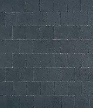 ongetrommelde klinker zwart 20x20