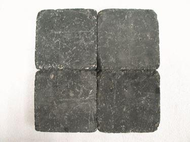 getrommelde zwart 20x20x6cm