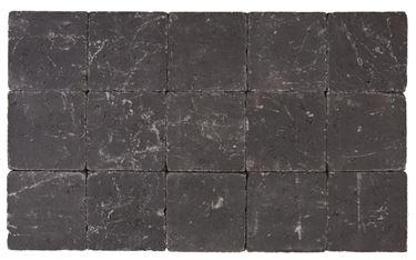Getrommelde Bouwpuntklinker zwart 15x15