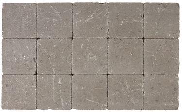 Afbeelding van Getrommelde Bouwpuntklinker grijs 15x15x6cm