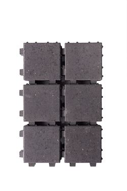 Afbeelding van waterpasserende klinker zwart 20x20x6cm