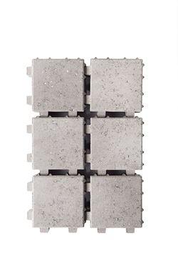 Afbeelding van waterpasserende klinker grijs20x20x6cm