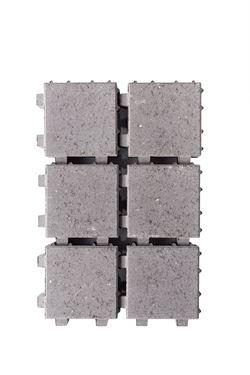 Afbeelding van waterpasserende klinker muisgrijs20x20x6cm