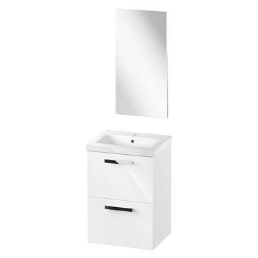 Afbeelding van Cersanit SET Melar meubel, keramische wastafel 60 cm en spiegel.