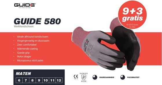 Afbeelding van Guide 580 werkhandschoen 9 + 3 gratis